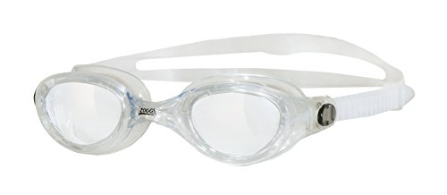 Zoggs Phantom Clear Lenses Quick Adjust Swimming Goggles with UV Protection - Clear