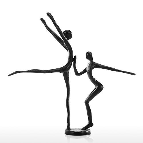 Galapara Adornos Escultura Figuras Decorativas Doble Danza Moderna Escultura De Hierro Escultura De Metal Decoración del Hogar Colección De Arte
