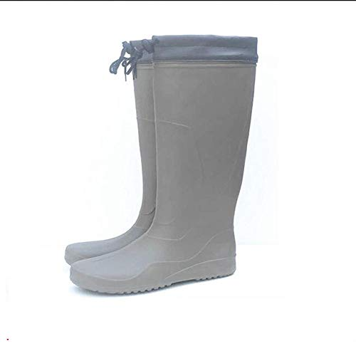 Asdfghur5 Botas De Lluvia De Tubo Ultra Alto,Zapatos De Pesca,Livianos Antiácidos Y Alcalinos,Zapatos Impermeables Resistentes Al Desgaste,Khaki-S
