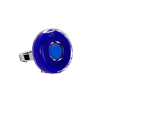 Pylones Ring aus Glas – Duo Mini Dunkelblau