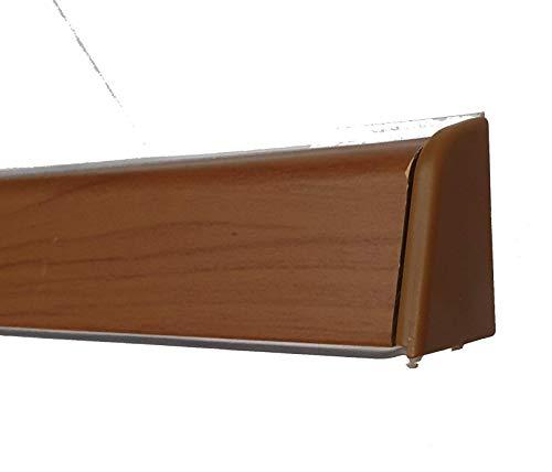 Alzatina per piani da cucina, spalletta per top, alzatina, finale per top con la seguente misura= 2 metri lineari compresa di finali, alzatina in colore ciliegio