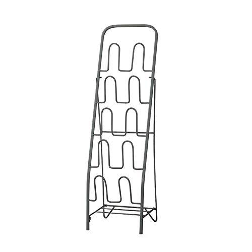 Bastidores de zapatos Almacenamiento Fácil de montar espacio para ahorrar espacio Metal Rack Entrada Baño Freestanding Zapato Estante de zapatos Adecuado para zapatos planos y zapatillas (Oro / Negro