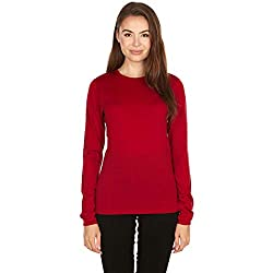 Minus33 Merino Wool 802 Moriah Women's Lightweight Crew True Red XL