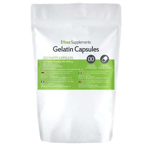 Your Supplements – Maat 00 Lege Gelatine Capsules (250)