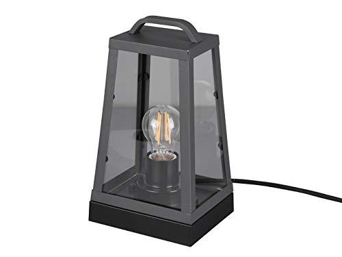 Moderne LED Außentischleuchte eckige Laterne in Anthrazit - vielseitige Außenbeleuchtung für Haus und Terrasse