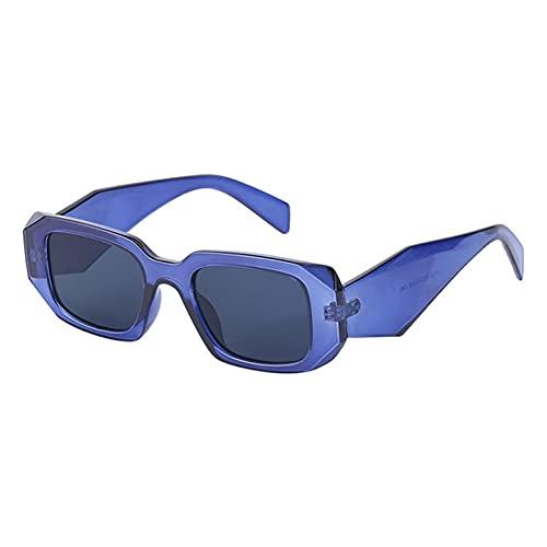 AMFG Gafas De Sol De Marco Irregulares Para Hombres Y Mujeres, Gafas De Sol De Piernas Anchas De Marco Pequeño, Protección Solar, Viajes, Gafas De Desgaste (Color : E, Size : M)