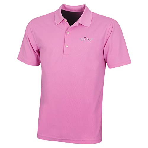 GREG NORMAN Large Logo' Polo Shirt Hommes Micro Piqué - Light Magenta - L