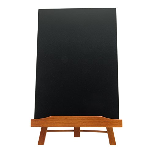 Securit Tableau noir de table finition laquée Acajou Format A4