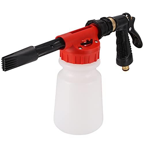 ALLOMN Schaumlanze, Schaumpistole Auto Schaum Pistole, Multifunktionale Auto Reinigung Schaum Pistole Auto Wasser Seife Shampoo Sprayer für Van Motorrad Fahrzeug 900ML