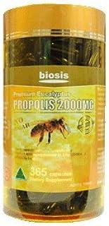 Biosis Propolis 2000mg Premium Eucalyptus Dark 365 Capsules Australian Made