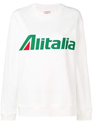 Alberta Ferretti Luxury Fashion Womens Sweatshirt Summer White