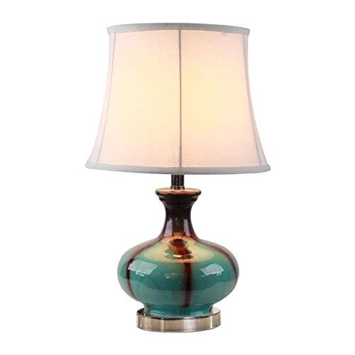 Diseño Personalizado Vector de la lámpara azul cerámica moderna Pastoral creativa con tela blanca de sombra, for el dormitorio sala de estar familiar Iluminación decorativa Crocs