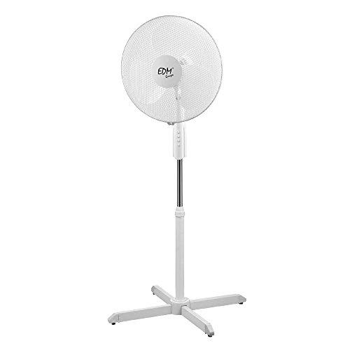 VENTILADOR DE PIE EDM 55 W 40 cm, Color Blanco