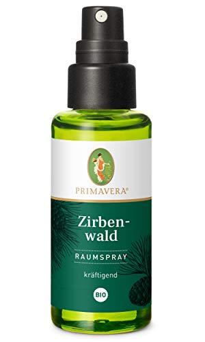 PRIMAVERA Raumspray Zirbenwald bio 50 ml - Zirbelkiefer - Aromadiffuser, Aromatherapie - kräftigend - vegan
