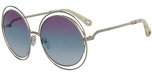Chloè Ce114Sd 814 58 Montures de lunettes, Or (Gold/Purple Azure Crystal), Femme