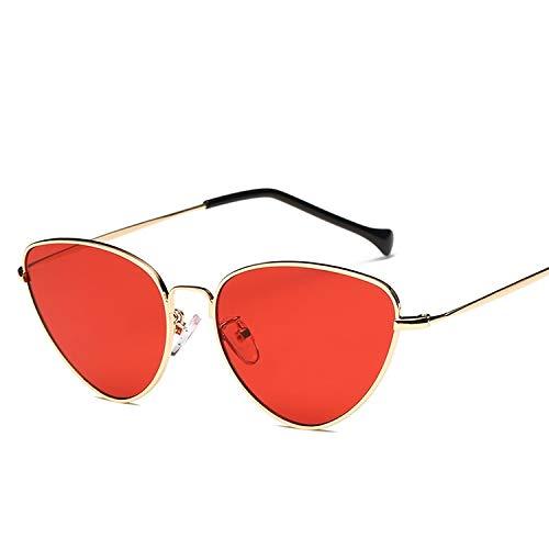 Yi-xir diseño Clasico Mujeres Gato Ojos Forma Lente de Color UV400 Gafas de Sol Protectoras Moda (SKU : Hc2051f)