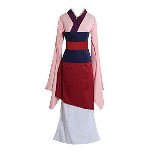 Vestidos Mujer Vintage Party Club Traje de Cosplay Kimono Vestido de Princesa Película de Mulan Elegante Dress Retro Disfraz Fannyfuny
