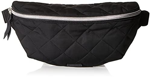 Vera Bradley Women's Performance Twill Convertible Crossbody Belt Bag with RFID Protection Purse, Black, One Size