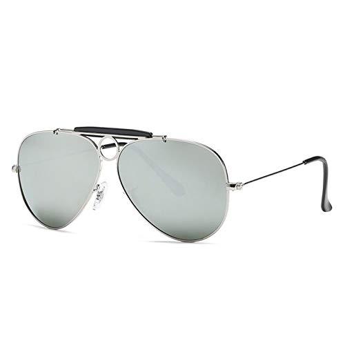 WJJH Gafas de Sol polarizadas de Moda de Vidrio Classic Men's Big Frame Sunglasses Driver Driving Gafas de Sol Saplo Espejo,Y1