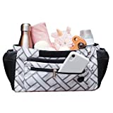 Cozy Caddie Stroller Organizer Baby Diaper Bag - Hanging Stroller Caddy with Insulated Cup Holders, Stroller Pouch and Diaper Change Mat - Baby Accessories and Baby Shower Gifts for Boy or Girl
