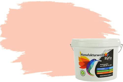 RyFo Colors Bunte Wandfarbe Manufakturweiß Softterracotta 3l - weitere Orange Farbtöne und Größen erhältlich, Deckkraft Klasse 1, Nassabrieb Klasse 1