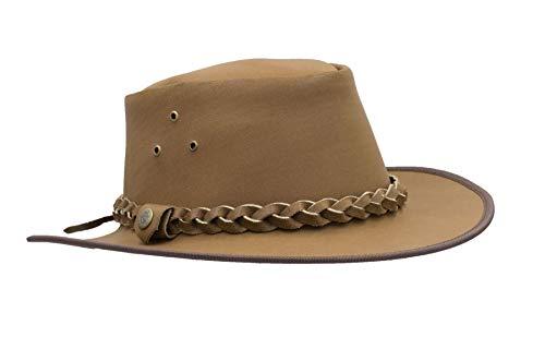 Walker en Hawkes - lederen koeienhuid Outback gevlochten reiziger hoed