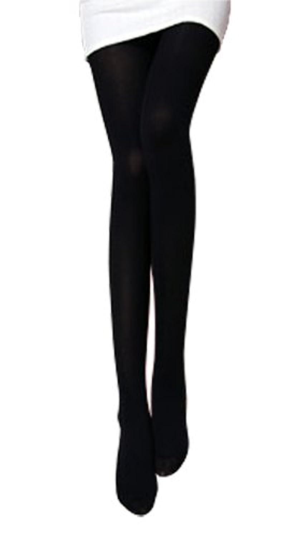 Zipangu あったか冬用 ベルベットタッチのタイツ 黒 80デニール M-Lサイズ ブラック 伝線しにくいタイツ 80D 【3足組】