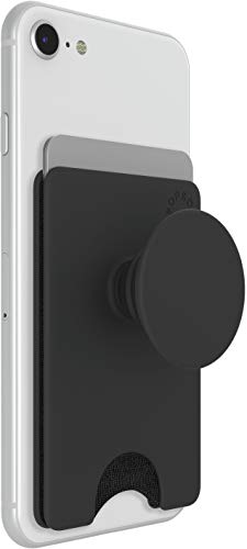 PopSockets PopWallet+ with Integrated Swappable PopTop - Black