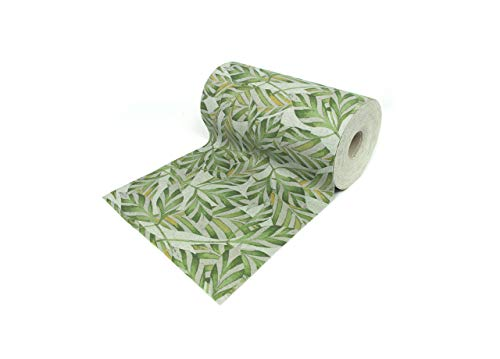 CapitanCasa Tappeto Passatoia Antiscivolo Fantasia Plant Colore Verde 50x230 Verde