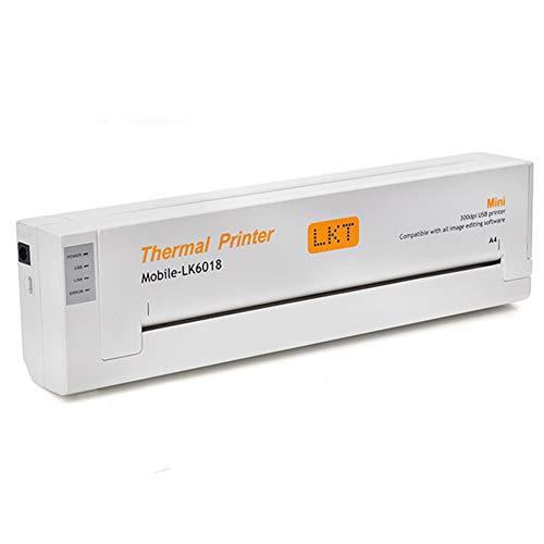 XCUGK Tattoo Portable Mini A4 Printer Nouveau Manuscrit d'impression en Ligne pour Machine De Transfert USBpour Windowsxp / Win2000 / Win7 32 Bits / Win7 64 Bits,Blanc