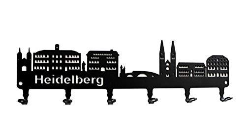 Schlüsselbrett/Hakenleiste * Heidelberg Skyline * - Schlüsselboard, Schlüsselleiste, Metall - 6 Haken