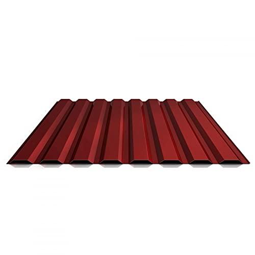 Trapezblech   Profilblech   Wandblech   Profil PS20/1100TW   Material Stahl   Stärke 0,50 mm   Beschichtung 80 µm   Farbe Oxidrot