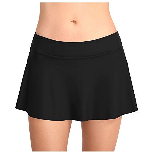 Meijunter Nadar Falda para Mujer - Sólido Color Bikini Tankini Fondo con Bragas Alinear Nadar Vestidos Ropa de Playa Traje de baño