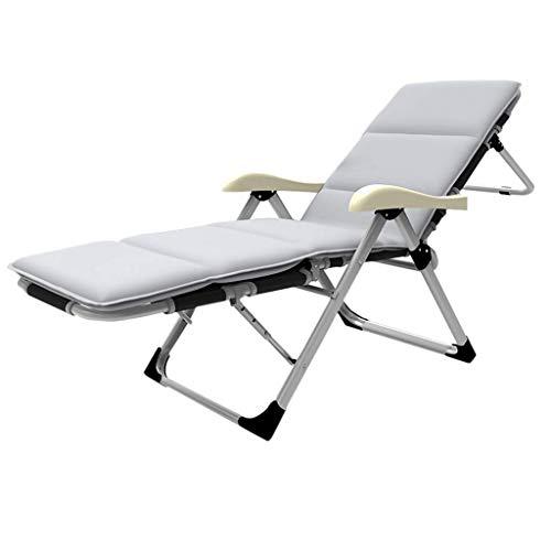 LLSS Grey Mat 178CM Mode Klappstuhl Garden Recliner Beach Sun Chair