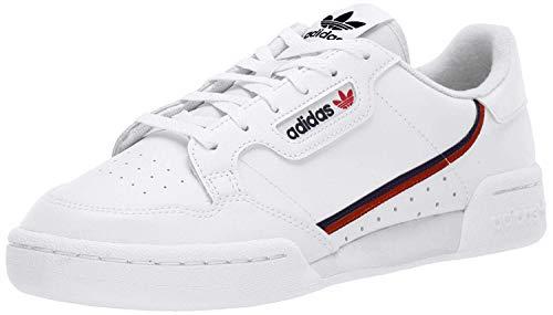 adidas Originals Men's Continental 80 Sneaker, White/Scarlet/Collegiate Navy, 10 Medium US