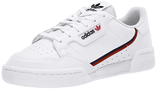 adidas Originals Men's Continental 80 Sneaker, White/Scarlet/Collegiate Navy, 10 Medium US