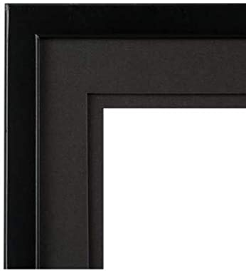 """Gallery Solutions 14x18 Airfloat Double Mat for 11x14 Photo, Wall Mount Picture Frame, 14"""" x 18"""", Black/Black"""