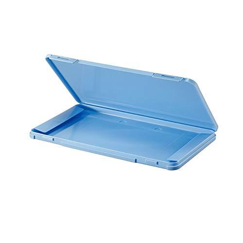 Ousyaah Caja portátil de Almacenamiento de mascarillas Desechables, Caja de Limpieza a Prueba de Polvo y Humedad, Caja de Almacenamiento de algodón filtrado (Azul)