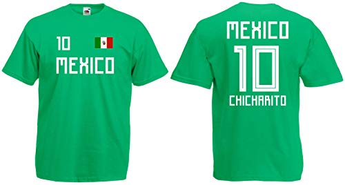 Mexiko Chicharito T-Shirt Trikot WM-2018 Look