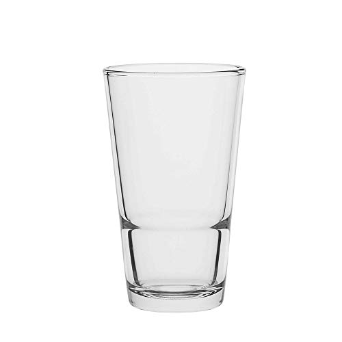 AmazonCommercial Longdrinkgläser, Barzubehör, Trinkglas, 372,6 ml, 8er-Set