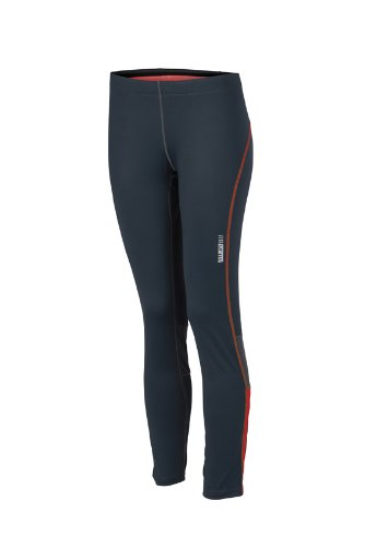 JAMES & NICHOLSON Ladies Running Tights Pantalon de Maternité, Rouge (Iron Grey/Grenadine), (Taille Fabricant: X-Large) Femme