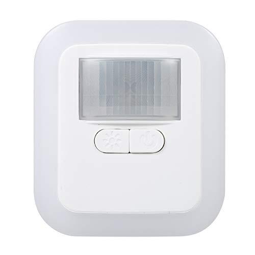 Hylotele Luz nocturna LED con sensor de movimiento, lámpara de pared con brillo y tiempo de iluminación ajustable de 30 s/60 s/90 s/120 s, para salón, dormitorio, escaleras, AC110 – 240 V