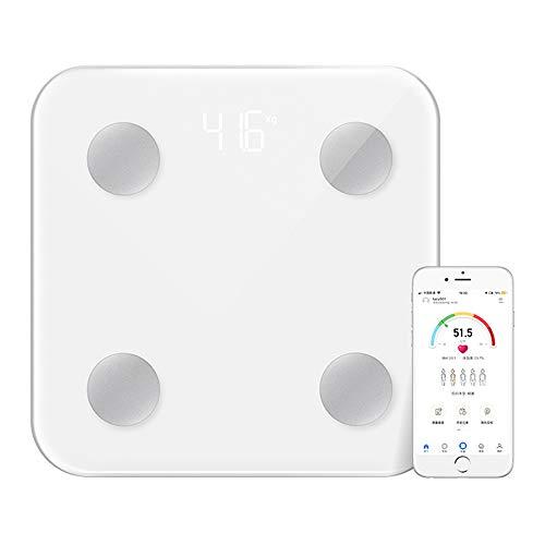 Báscula Corporal Bluetooth Grasa y Musculo,Escala Digital Inteligente, App Profecional de Monitor de Grasa y Composición Corporal, 17 indicador de salud, 0.1/180KG