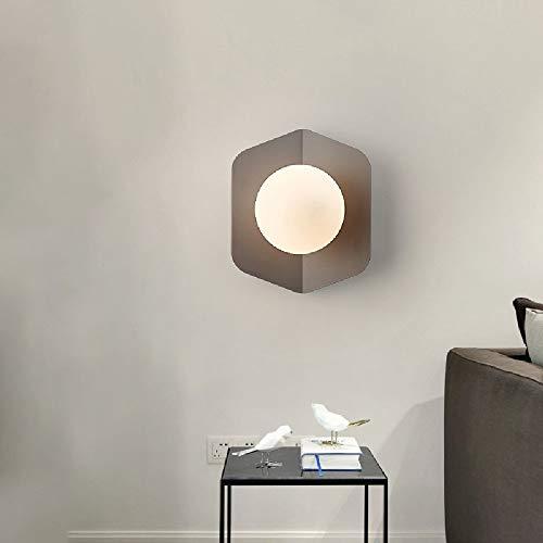 LMDH Nordic Creative Applique Macarons Escalier Simple Allée Chambre Chevet Mur Led Plafond Lampes (Couleur : Gray)