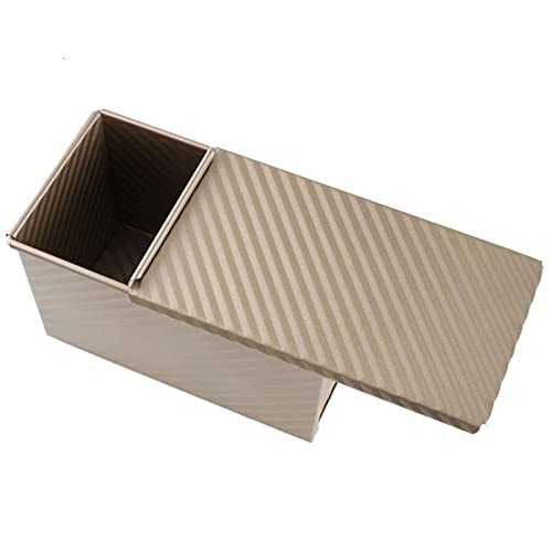 1 Pcs Rectangular Loaf Pan Carbon Steel Non stick Cover Toast Box Mold Bread Mold Eco Friendly Baking Tools for Cakes Uongfi (Color : 01)