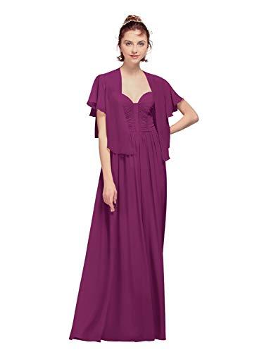 AW Bridal - Chales de gasa para mujer, para vestidos de noche, gasa, capas de boda, suaves Morado ciruela 100