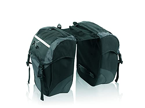 XLC Doppelpacktasche BA-S41, schwarz/anthrazit, 29x14x34cm, 30 ltr