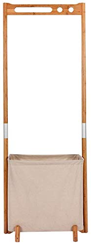 YLCJ bamboe mand met rek, 57 x 38,8 x 155 cm, voor slaapkamer, woonkamer, bewaarmand, waterdicht