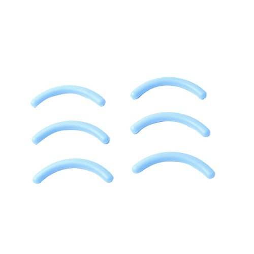 Sourcingmap Rubber Lady trucco ciglia curler Pads, Azzurro, 6pezzi