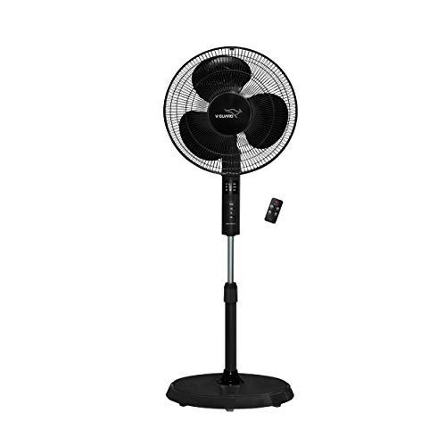 V-Guard Esfera Pedestal Fan with Remote (Black)